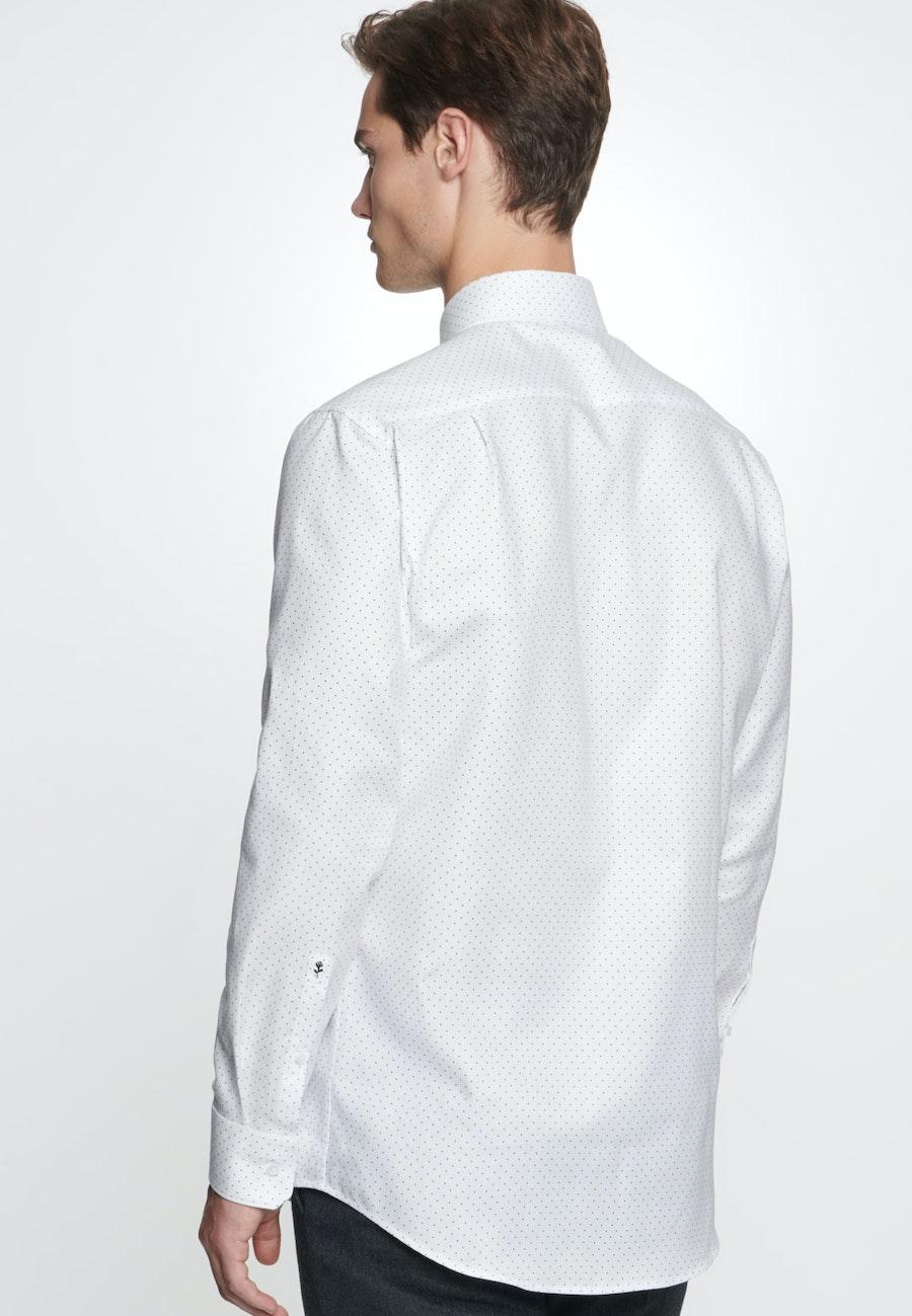 Bügelleichtes Popeline Business Hemd in Regular mit Kentkragen in Weiß    Seidensticker Onlineshop