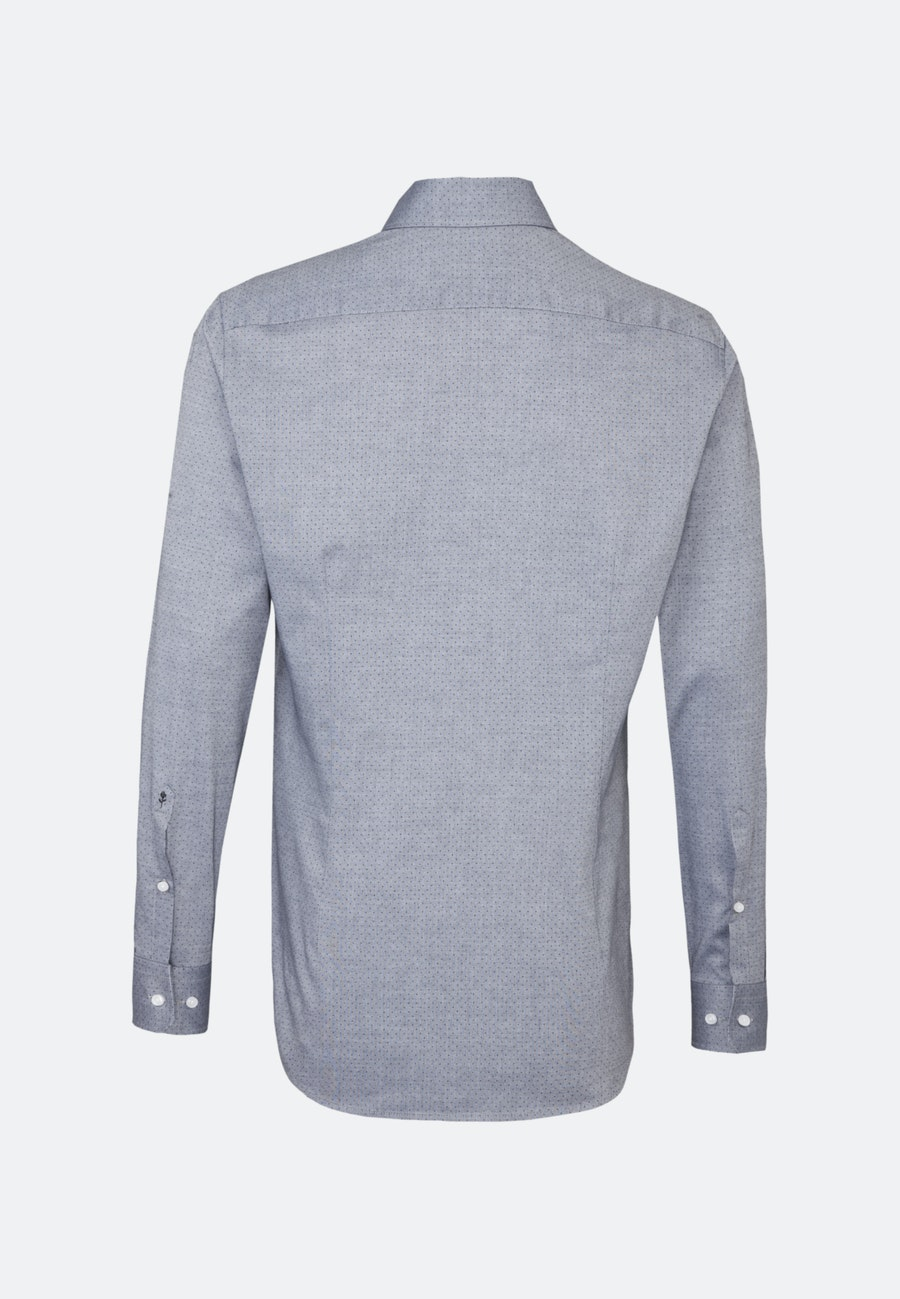 Easy-iron Oxford Business Shirt in Shaped with Kent-Collar in Grey |  Seidensticker Onlineshop