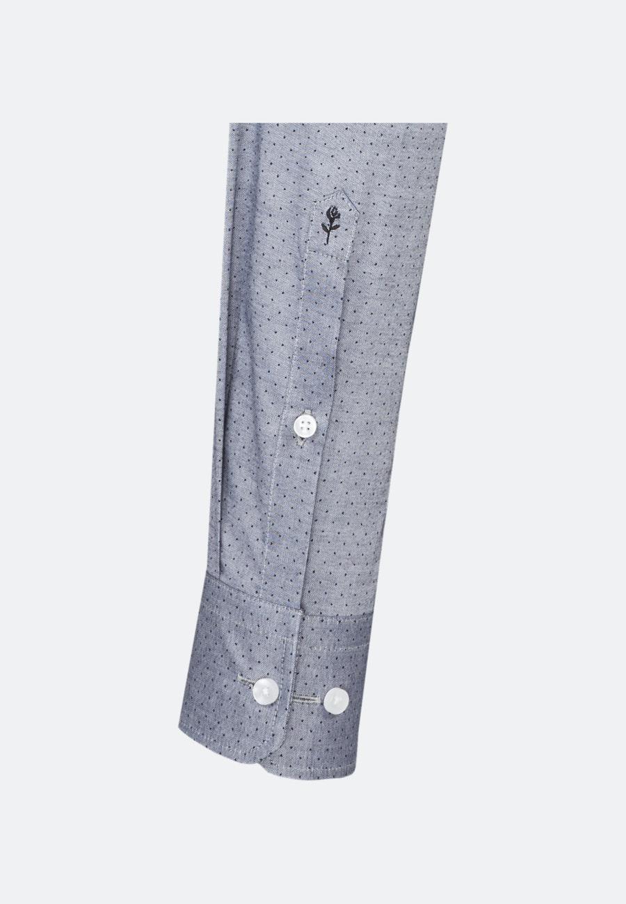 Bügelleichtes Oxford Business Hemd in Shaped mit Kentkragen in Grau    Seidensticker Onlineshop