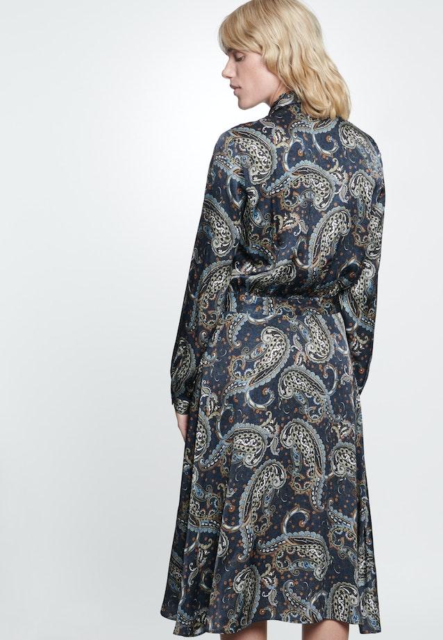 Voile Maxi Kleid aus 100% Viskose in Dunkelblau |  Seidensticker Onlineshop