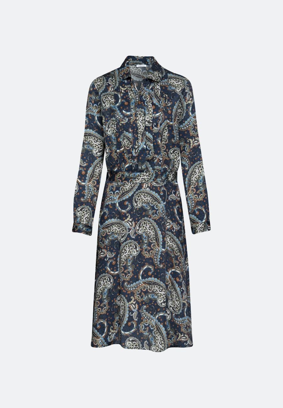 Voile Maxi Dress made of 100% Viscose in Dark blue |  Seidensticker Onlineshop