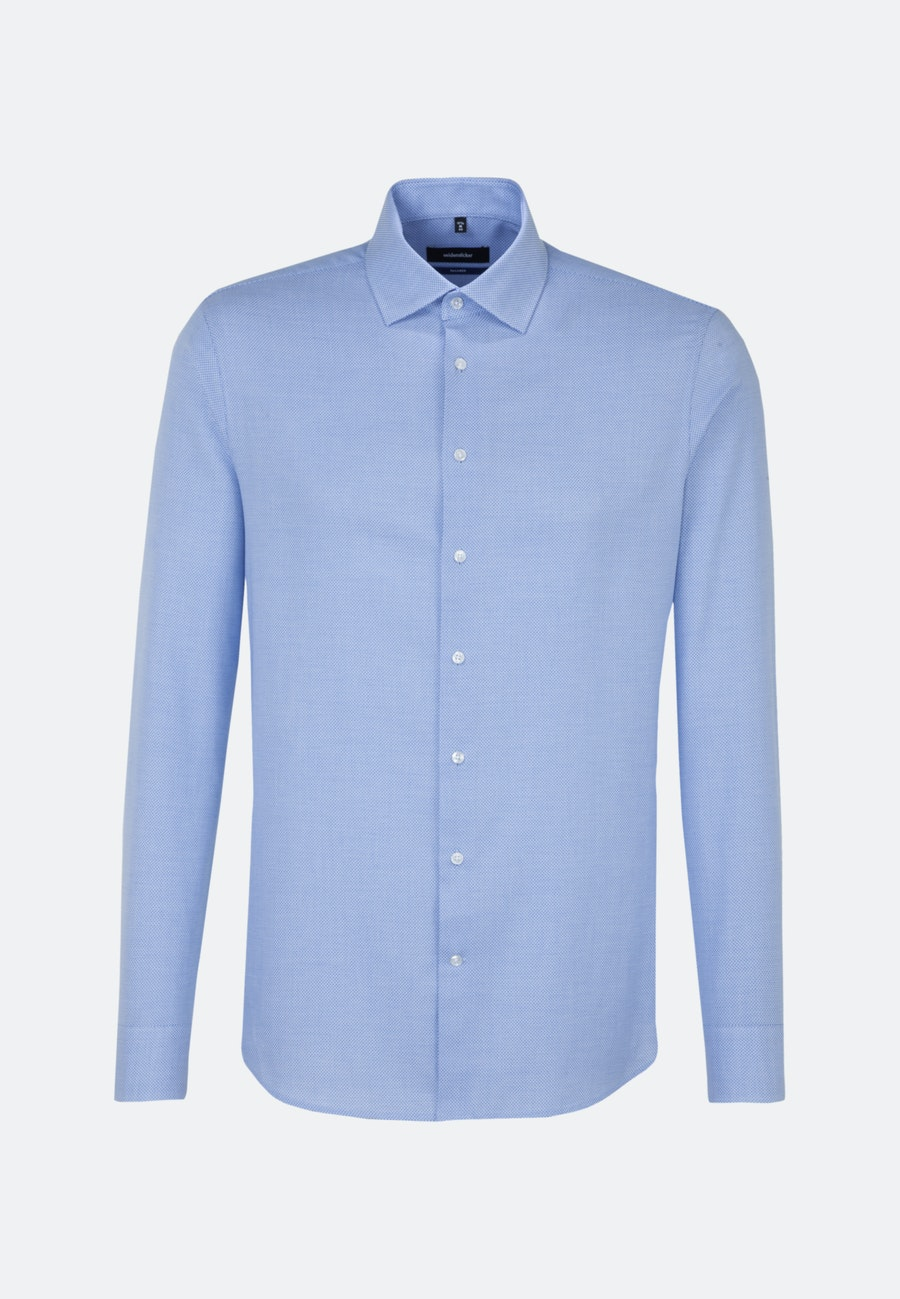 Easy-iron Structure Business Shirt in Shaped with Kent-Collar in Light blue |  Seidensticker Onlineshop