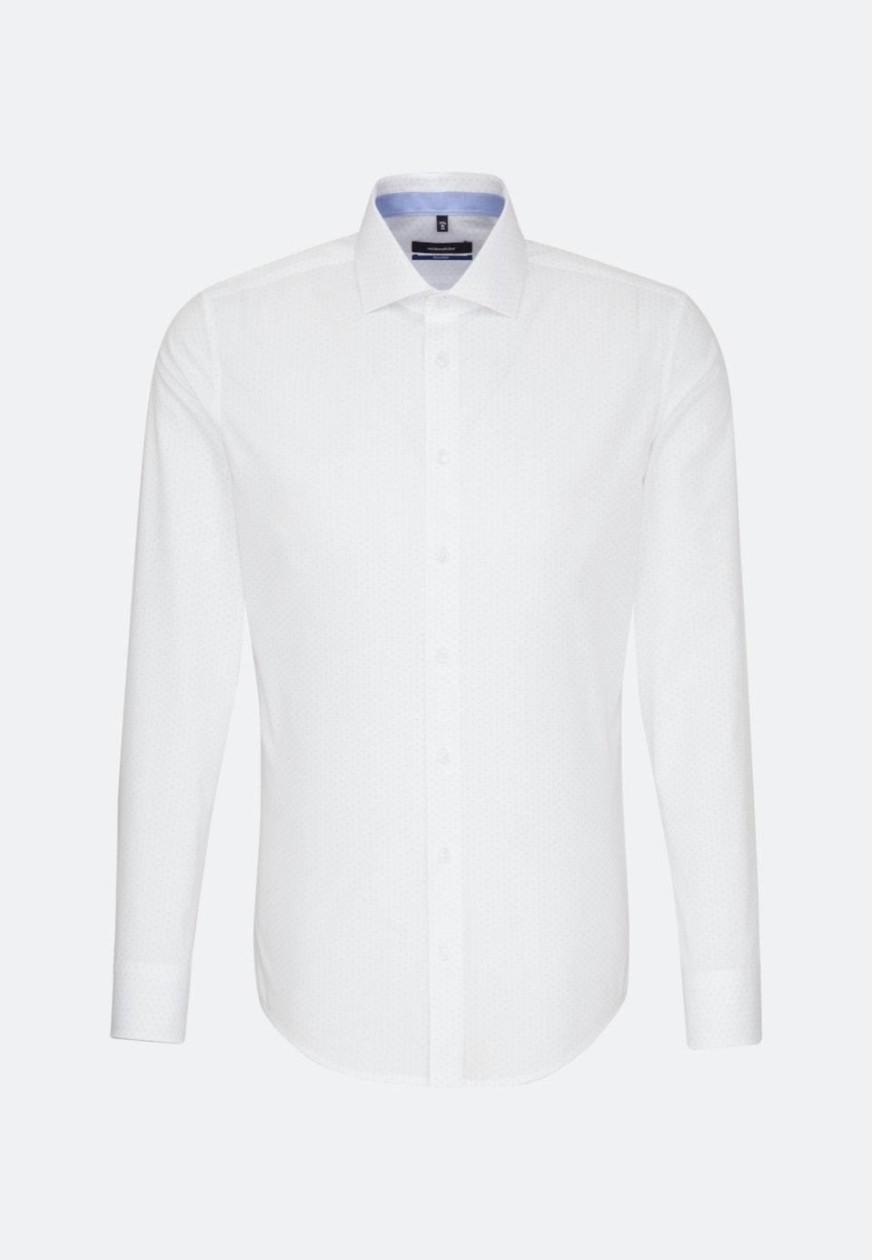 Easy-iron Poplin Business Shirt in Shaped with Kent-Collar in White    Seidensticker Onlineshop
