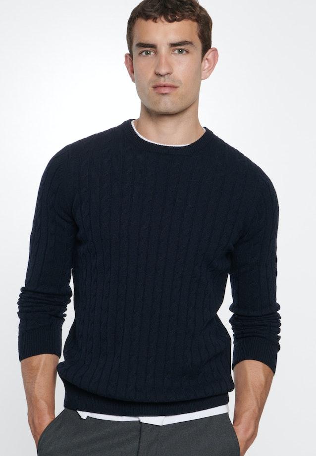 Crew Neck Pullover made of wool blend in Dark blue |  Seidensticker Onlineshop