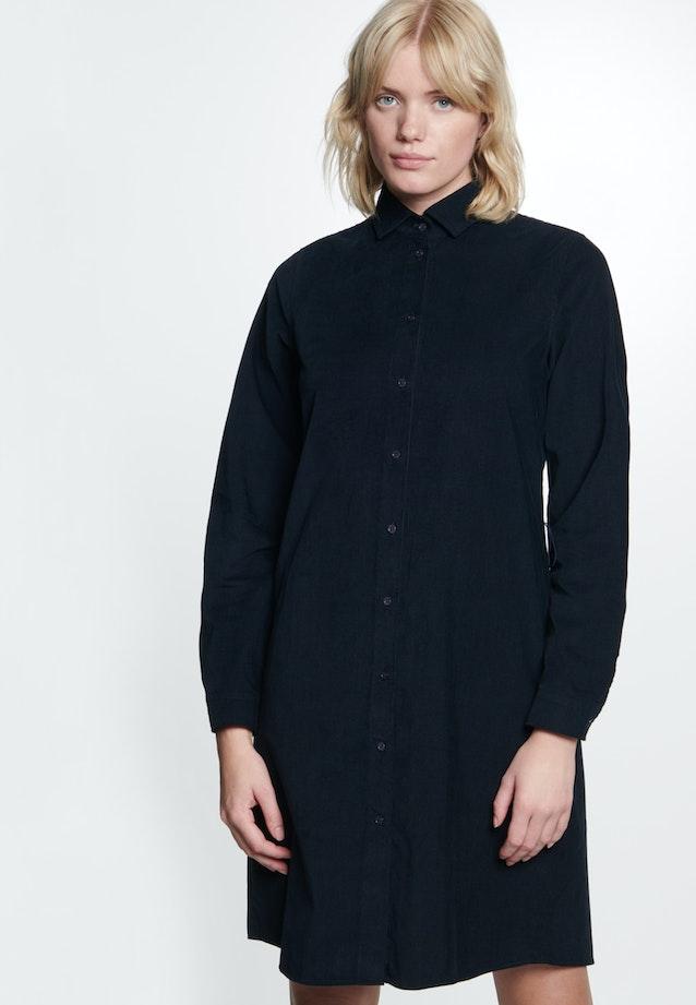 Cord Midi Kleid aus 100% Baumwolle in Dunkelblau |  Seidensticker Onlineshop