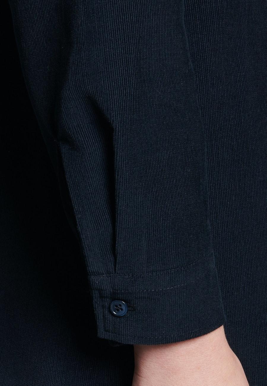 Cord Midi Kleid aus 100% Baumwolle in Dunkelblau    Seidensticker Onlineshop