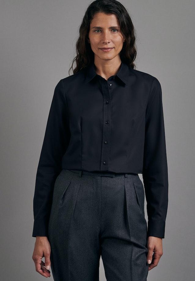 Non-iron Fil a fil Shirt Blouse made of 100% Cotton in Black |  Seidensticker Onlineshop