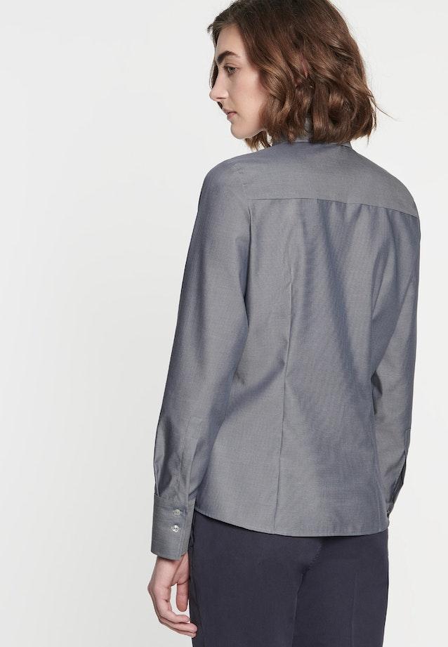 Non-iron Fil a fil Shirt Blouse made of 100% Cotton in Grey |  Seidensticker Onlineshop