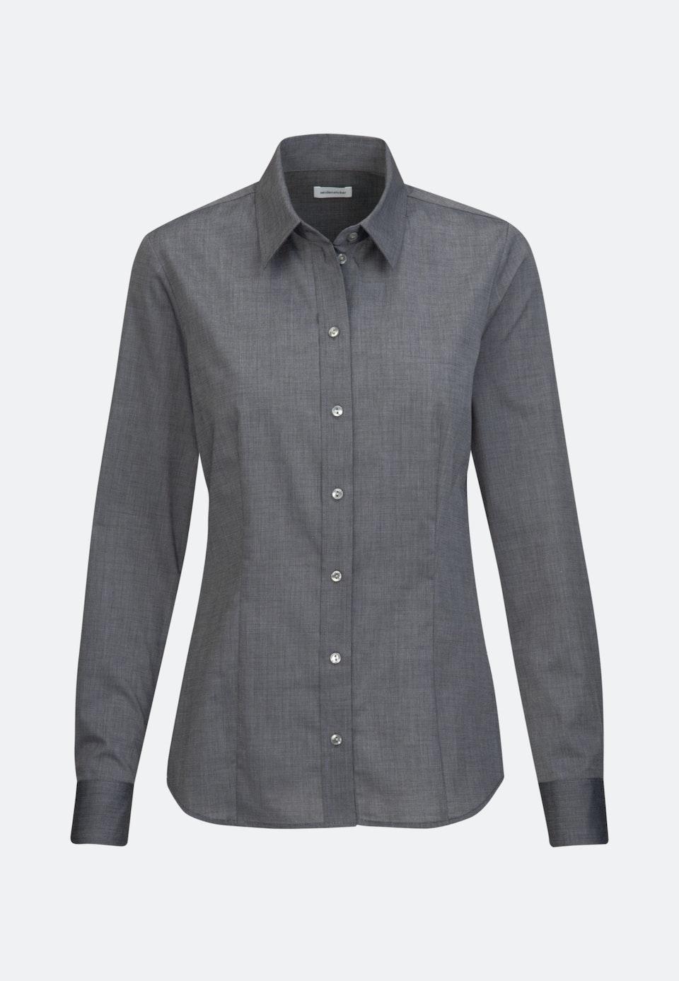 Bügelfreie Fil a fil Hemdbluse aus 100% Baumwolle in Grau    Seidensticker Onlineshop