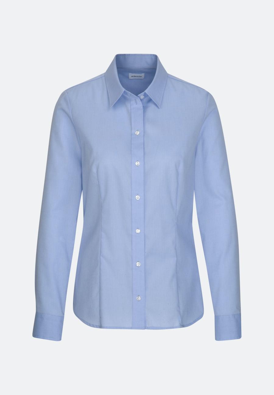 Bügelfreie Fil a fil Hemdbluse aus 100% Baumwolle in Hellblau    Seidensticker Onlineshop