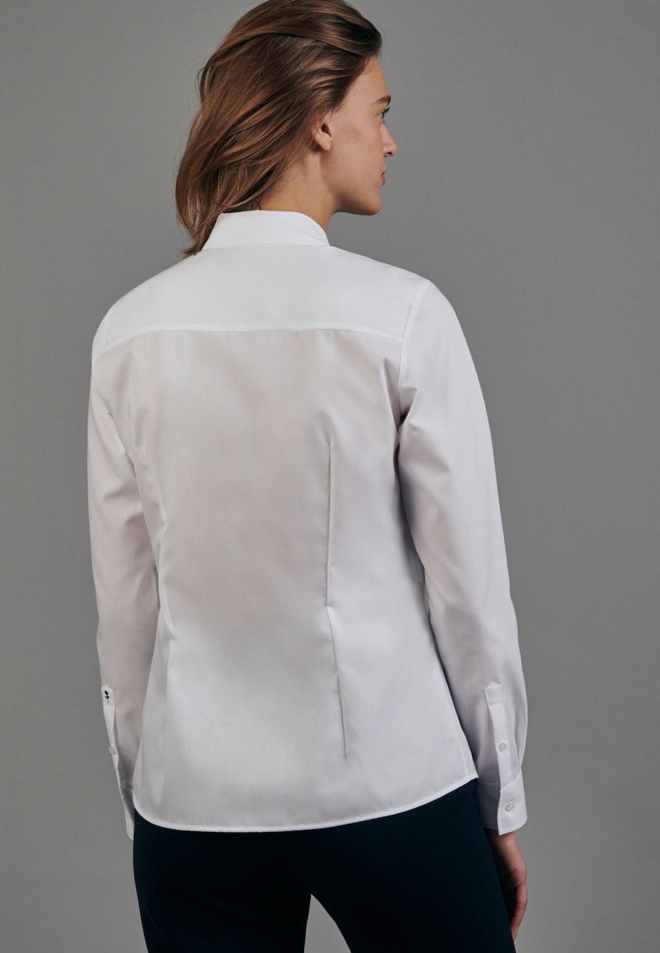 Non-iron Fil a fil Shirt Blouse made of 100% Cotton in White    Seidensticker Onlineshop