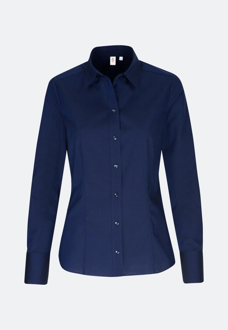 Non-iron Fil a fil Shirt Blouse made of 100% Cotton in Dunkelblau    Seidensticker Onlineshop