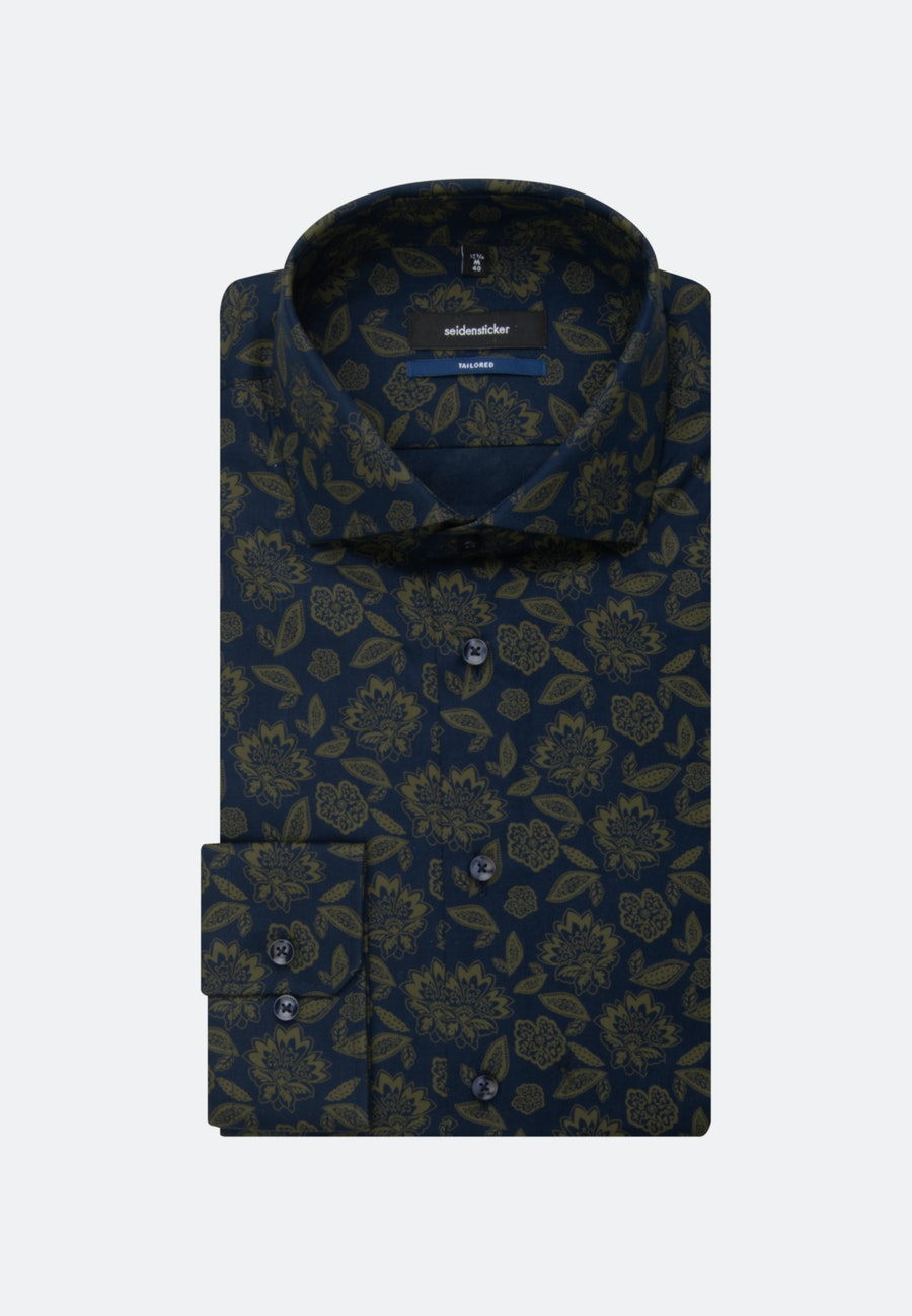 Easy-iron Twill Business Shirt in Shaped with Kent-Collar in Green |  Seidensticker Onlineshop
