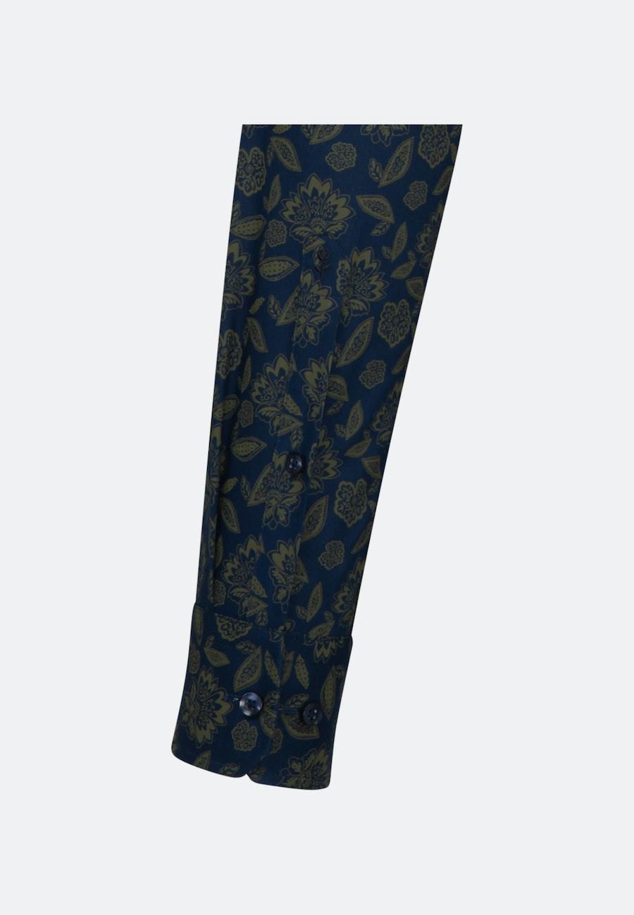 Bügelleichtes Twill Business Hemd in Shaped mit Kentkragen in Grün    Seidensticker Onlineshop