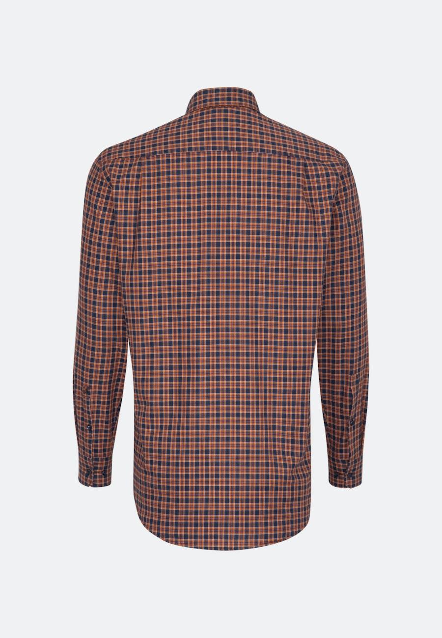 Bügelleichtes Twill Business Hemd in Regular mit Button-Down-Kragen in Orange |  Seidensticker Onlineshop