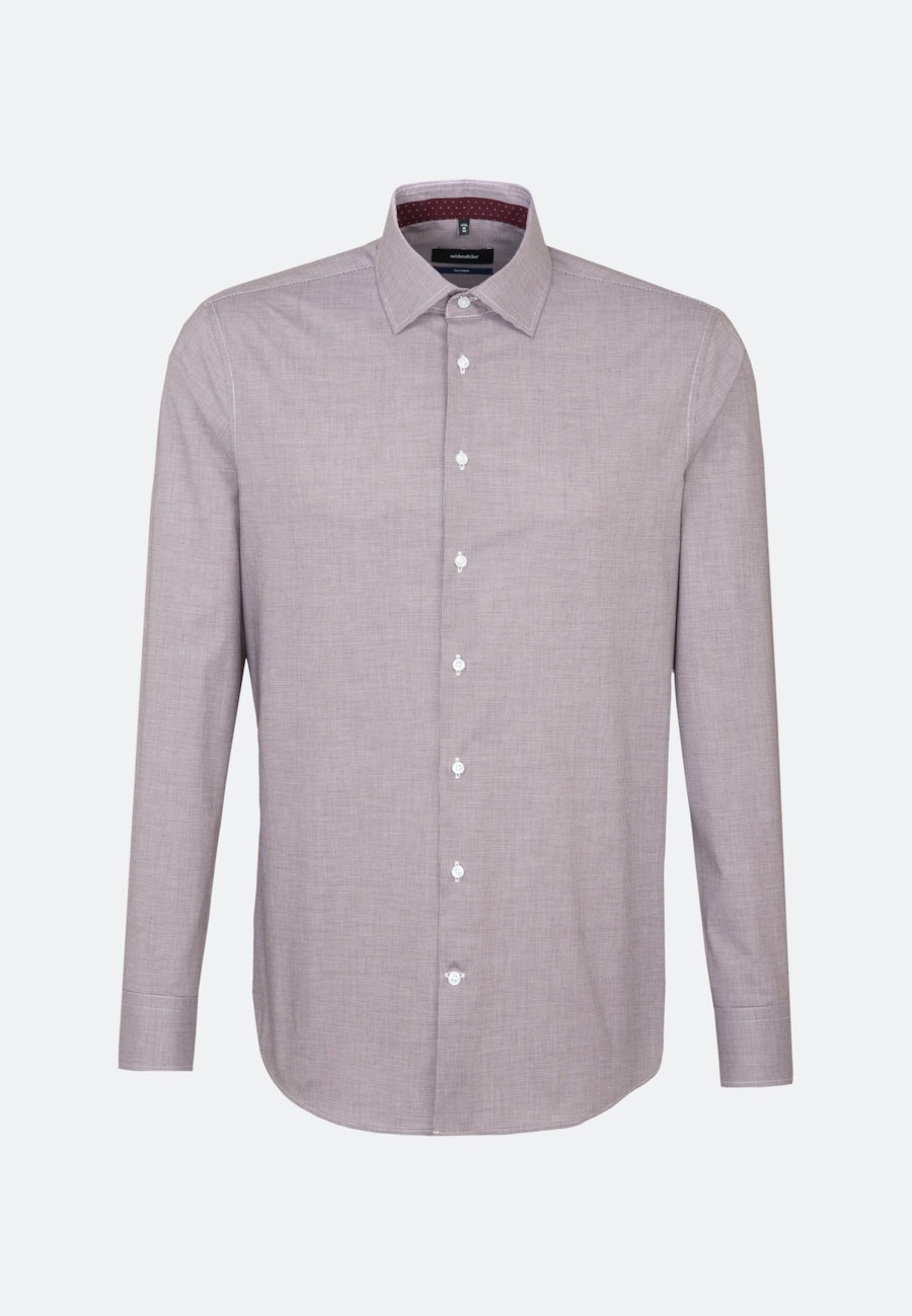 Non-iron Pepita Business Shirt in Shaped with Kent-Collar in Red |  Seidensticker Onlineshop
