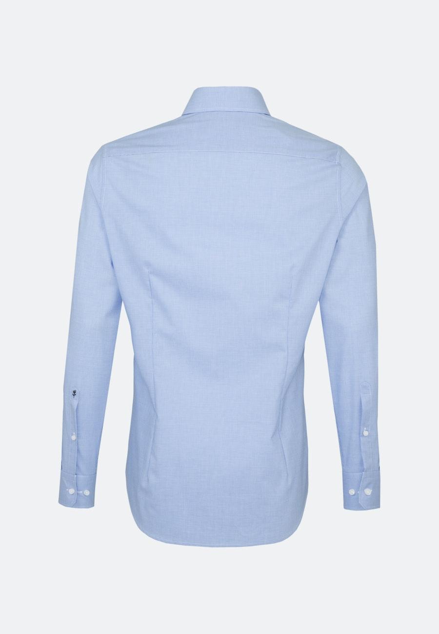 Bügelfreies Pepita Business Hemd in Shaped mit Kentkragen in Hellblau |  Seidensticker Onlineshop