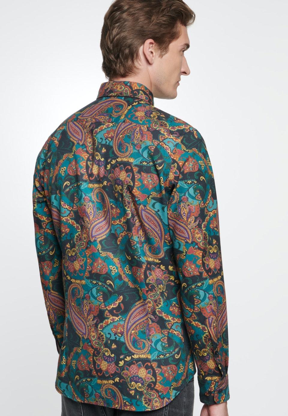 Bügelleichtes Twill Business Hemd in Slim mit Kentkragen in Orange |  Seidensticker Onlineshop