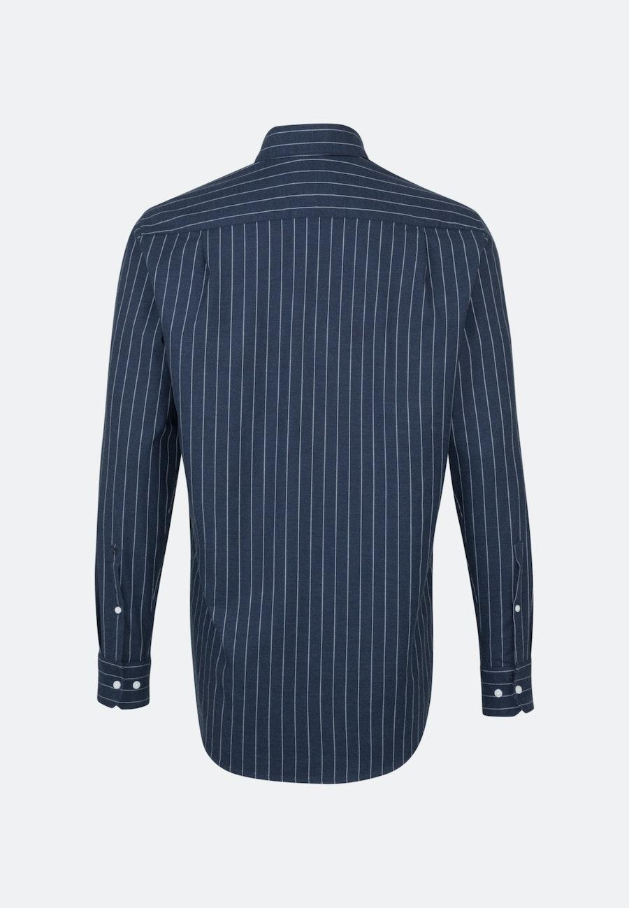 Easy-iron Twill Business Shirt in Regular with Kent-Collar in Dark blue    Seidensticker Onlineshop