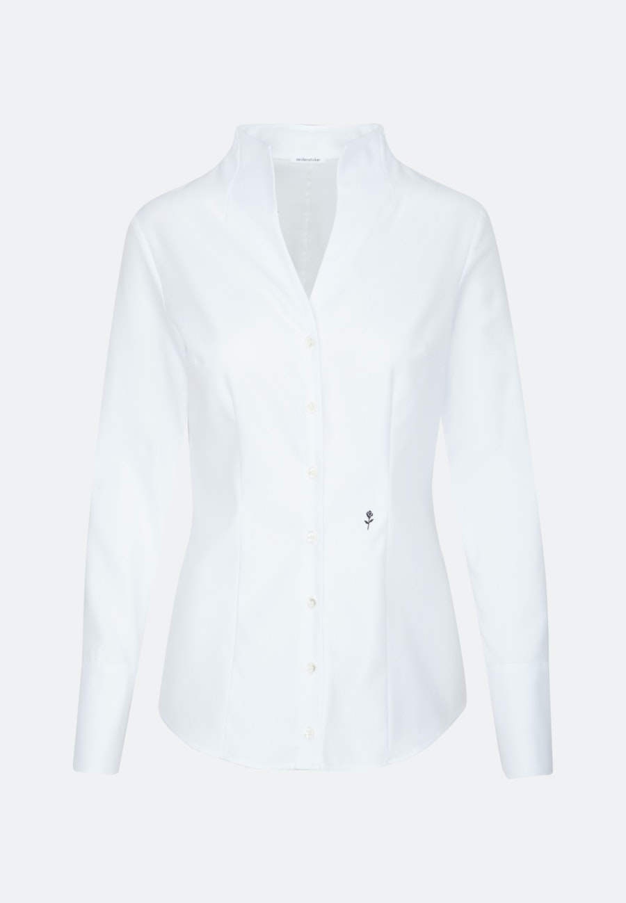 Twill Chalice Blouse made of 100% Cotton in Ecru |  Seidensticker Onlineshop