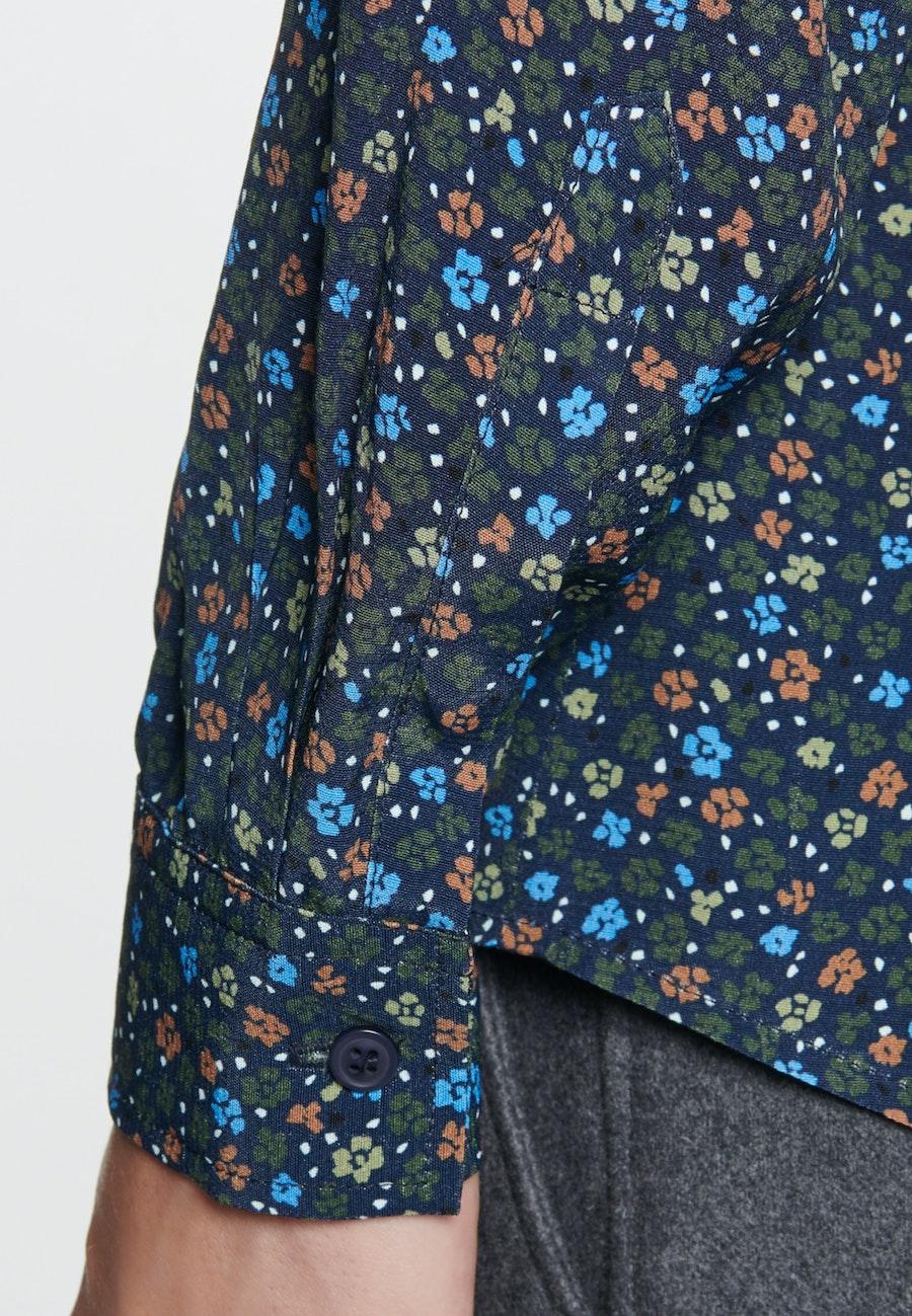 Chiffon Shirt Blouse made of 100% Viscose in Dark blue    Seidensticker Onlineshop
