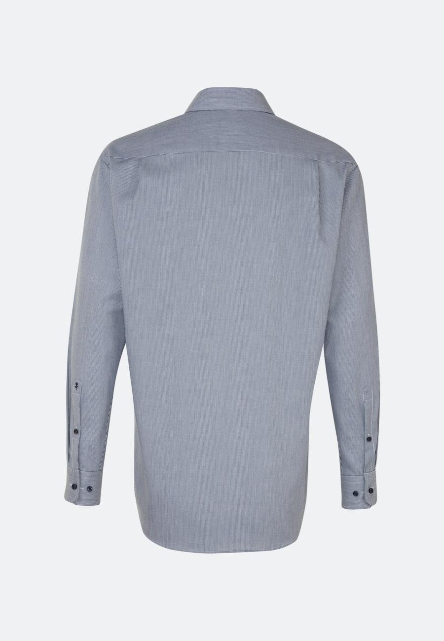 Bügelfreies Twill Business Hemd in Comfort mit Kentkragen in Dunkelblau |  Seidensticker Onlineshop