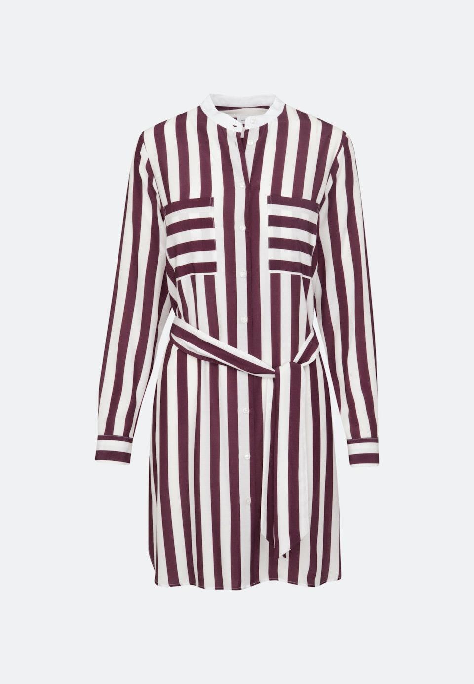 Krepp Midi Kleid aus 100% Viskose in Rot    Seidensticker Onlineshop