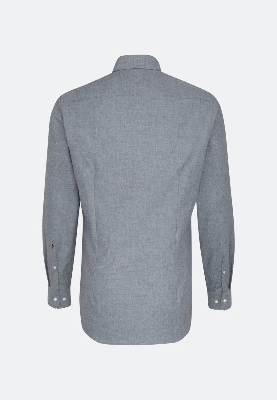 Easy-iron Structure Business Shirt in Slim with Kent-Collar in Grey |  Seidensticker Onlineshop