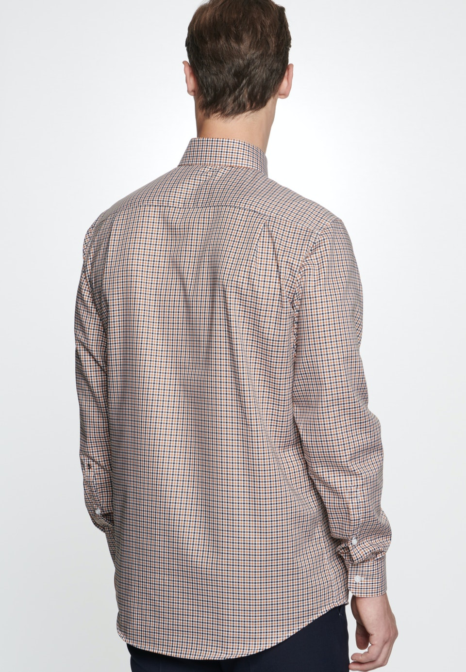Bügelfreies Twill Business Hemd in Regular mit Kentkragen in Orange |  Seidensticker Onlineshop