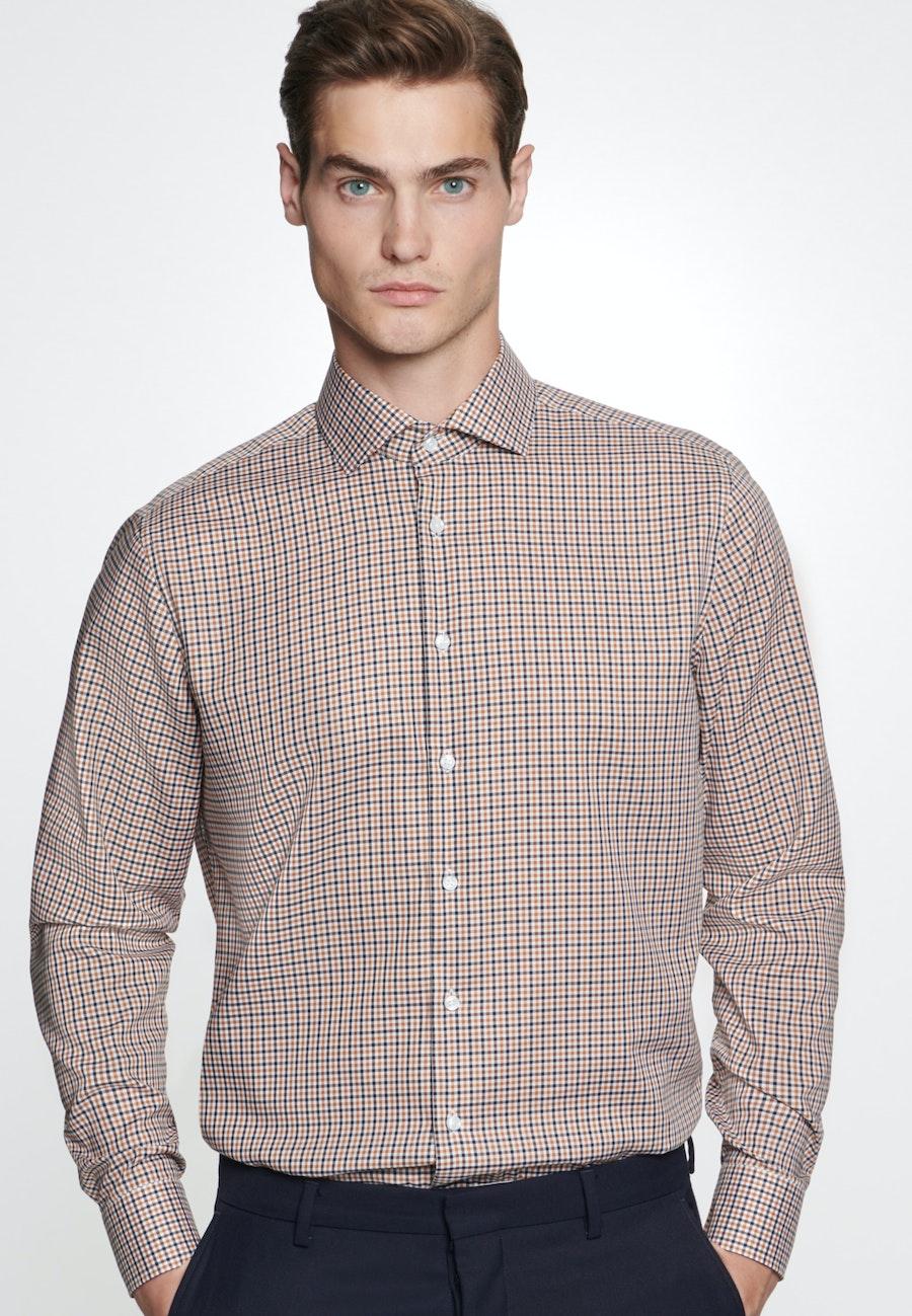 Non-iron Twill Business Shirt in Regular with Kent-Collar in Orange |  Seidensticker Onlineshop