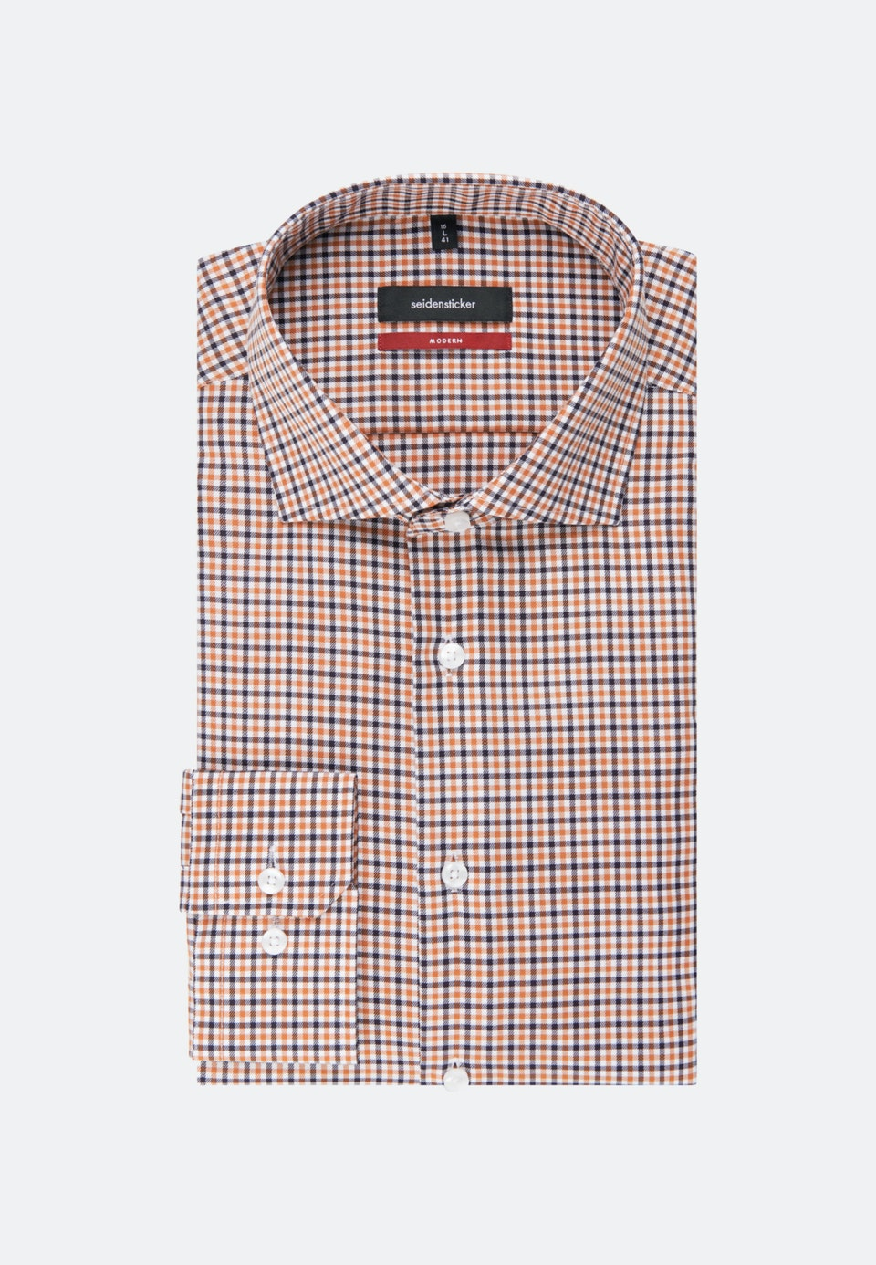 Non-iron Twill Business Shirt in Regular with Kent-Collar in Orange |  Seidensticker Onlineshop