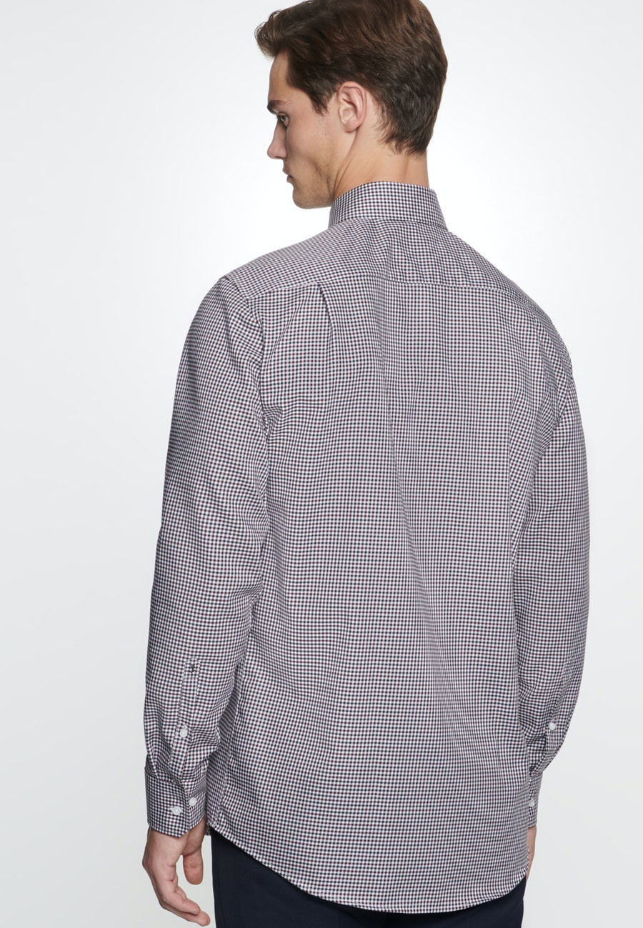Non-iron Twill Business Shirt in Regular with Kent-Collar in Red |  Seidensticker Onlineshop