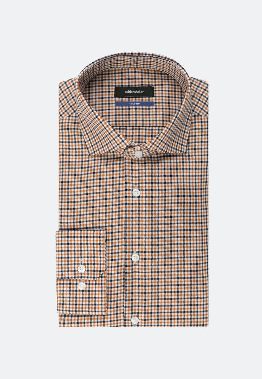 Bügelfreies Twill Business Hemd in Shaped mit Kentkragen in Orange |  Seidensticker Onlineshop
