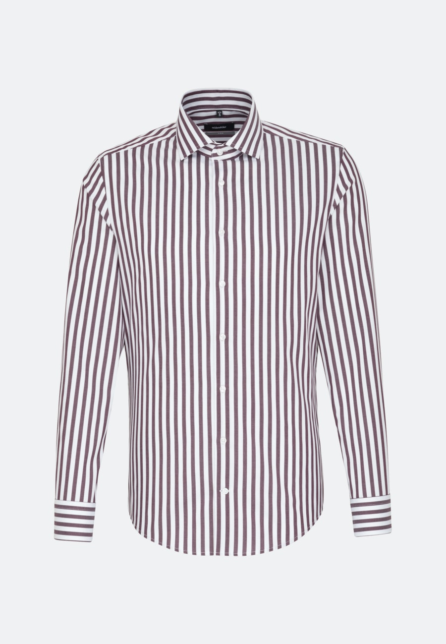 Bügelfreies Twill Business Hemd in X-Slim mit Kentkragen in Rot |  Seidensticker Onlineshop
