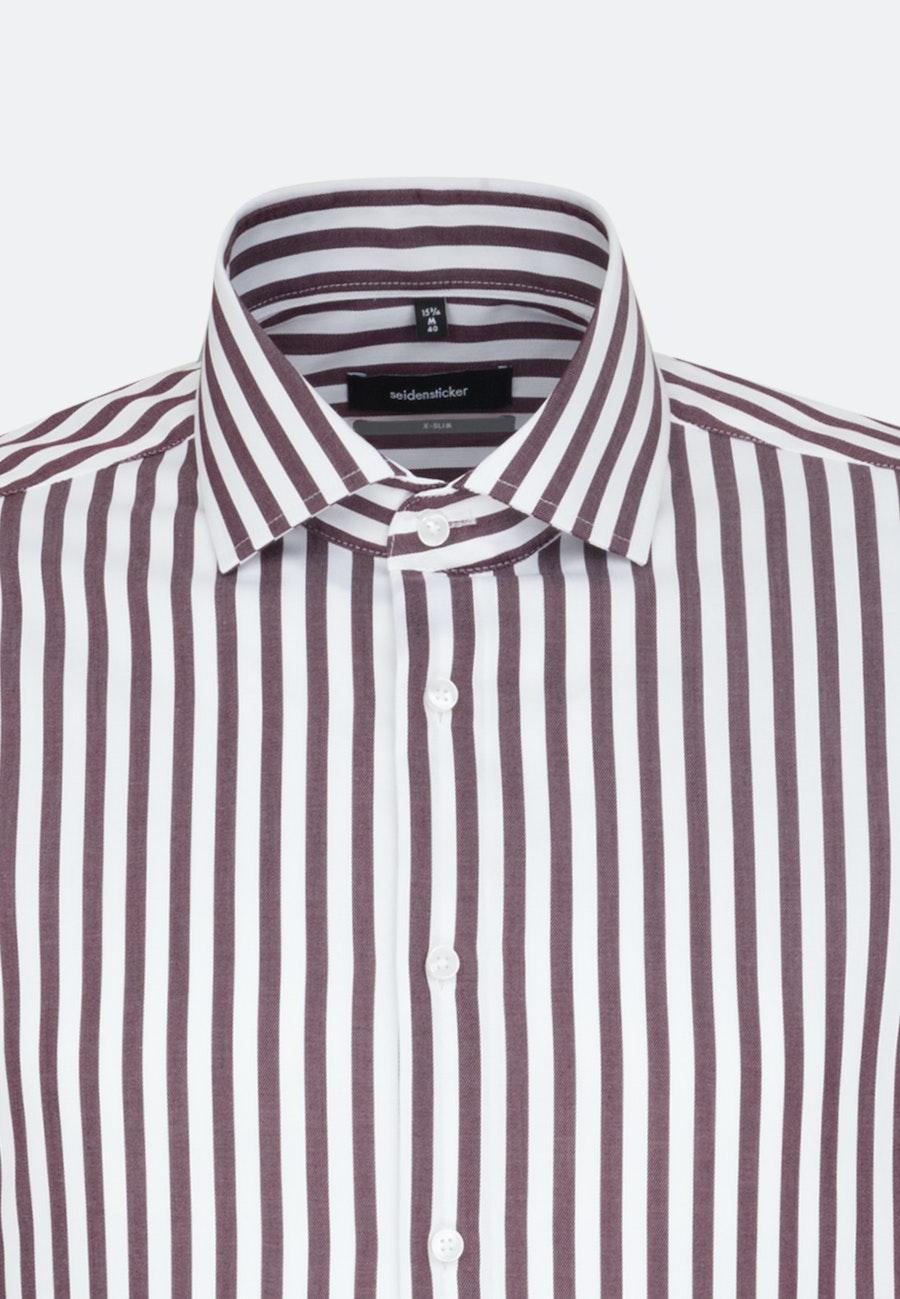 Non-iron Twill Business Shirt in X-Slim with Kent-Collar in Red |  Seidensticker Onlineshop