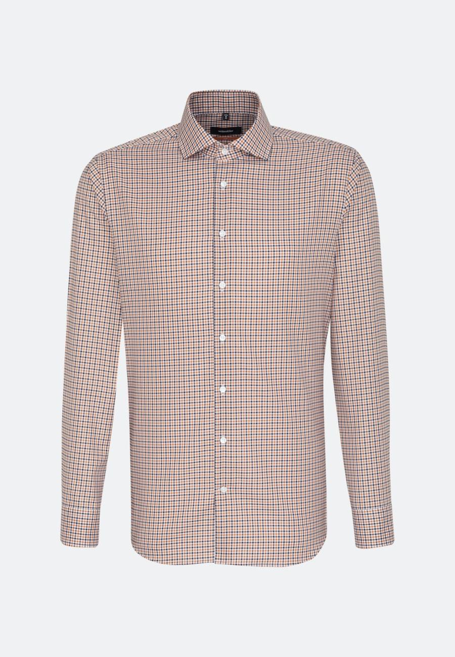 Bügelfreies Twill Business Hemd in Slim mit Kentkragen in Orange |  Seidensticker Onlineshop