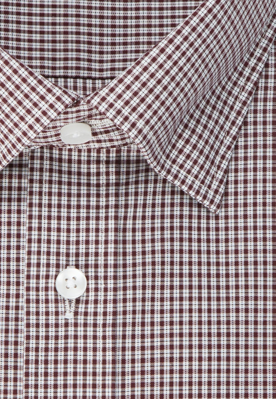 Bügelfreies Popeline Business Hemd in Shaped mit Covered-Button-Down-Kragen in Rot |  Seidensticker Onlineshop
