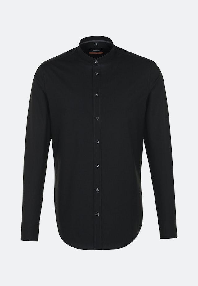 Non-iron Poplin Business Shirt in Slim with Stand-Up Collar in Black |  Seidensticker Onlineshop