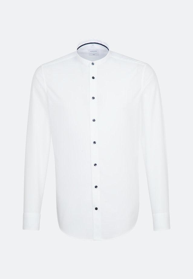 Bügelleichtes Popeline Business Hemd in Slim mit Stehkragen in Weiß |  Seidensticker Onlineshop