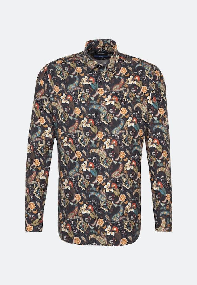 Twill Business Hemd in Shaped mit Kentkragen in Grün    Seidensticker Onlineshop