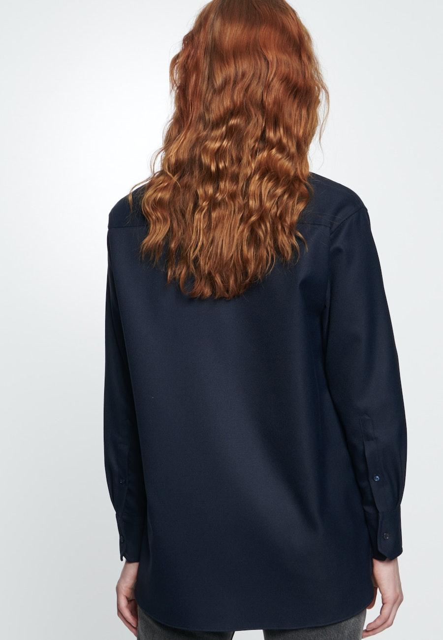 Twill Shirt Blouse made of viscose blend in Dark blue |  Seidensticker Onlineshop