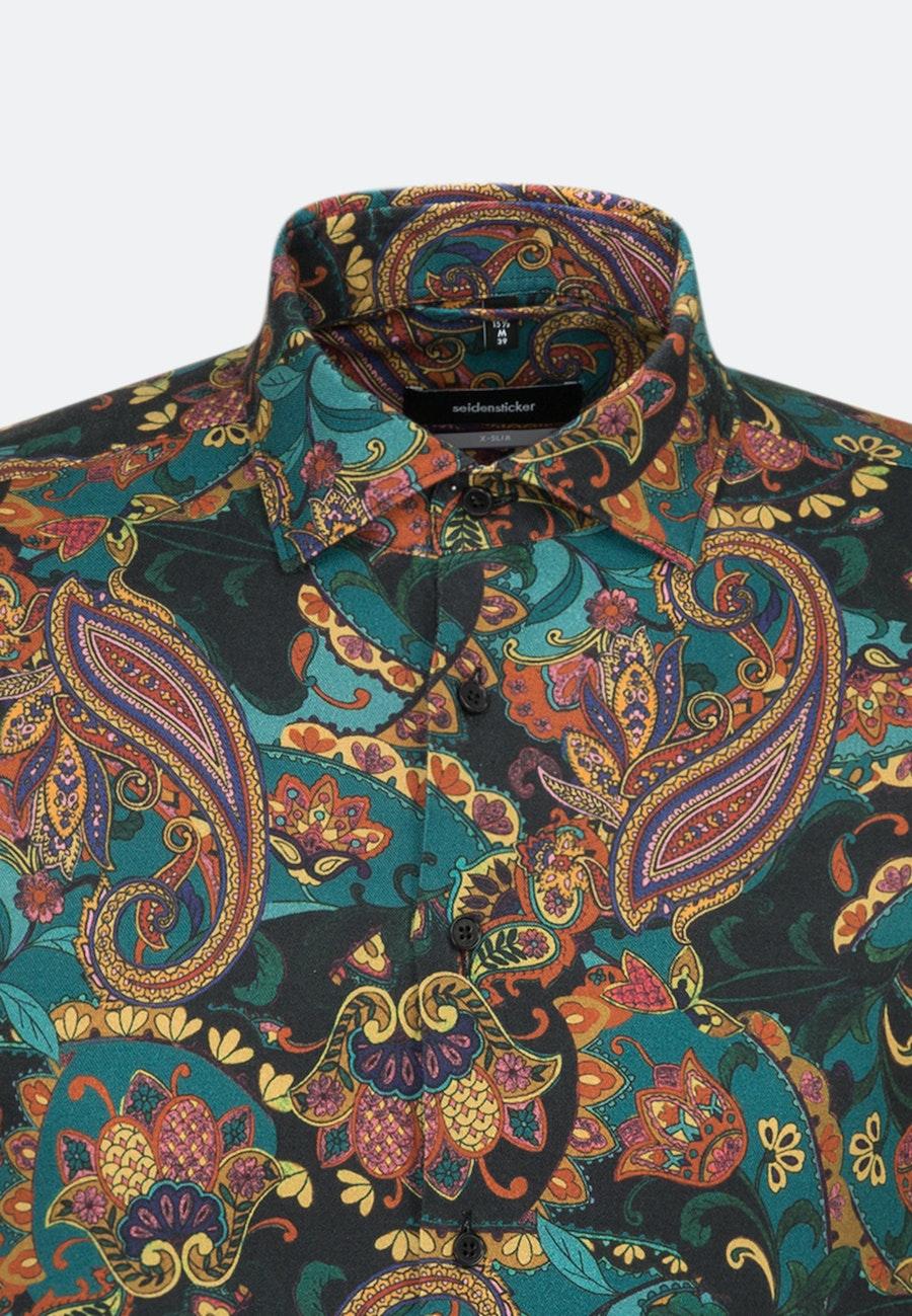 Bügelleichtes Twill Business Hemd in X-Slim mit Kentkragen in Orange |  Seidensticker Onlineshop