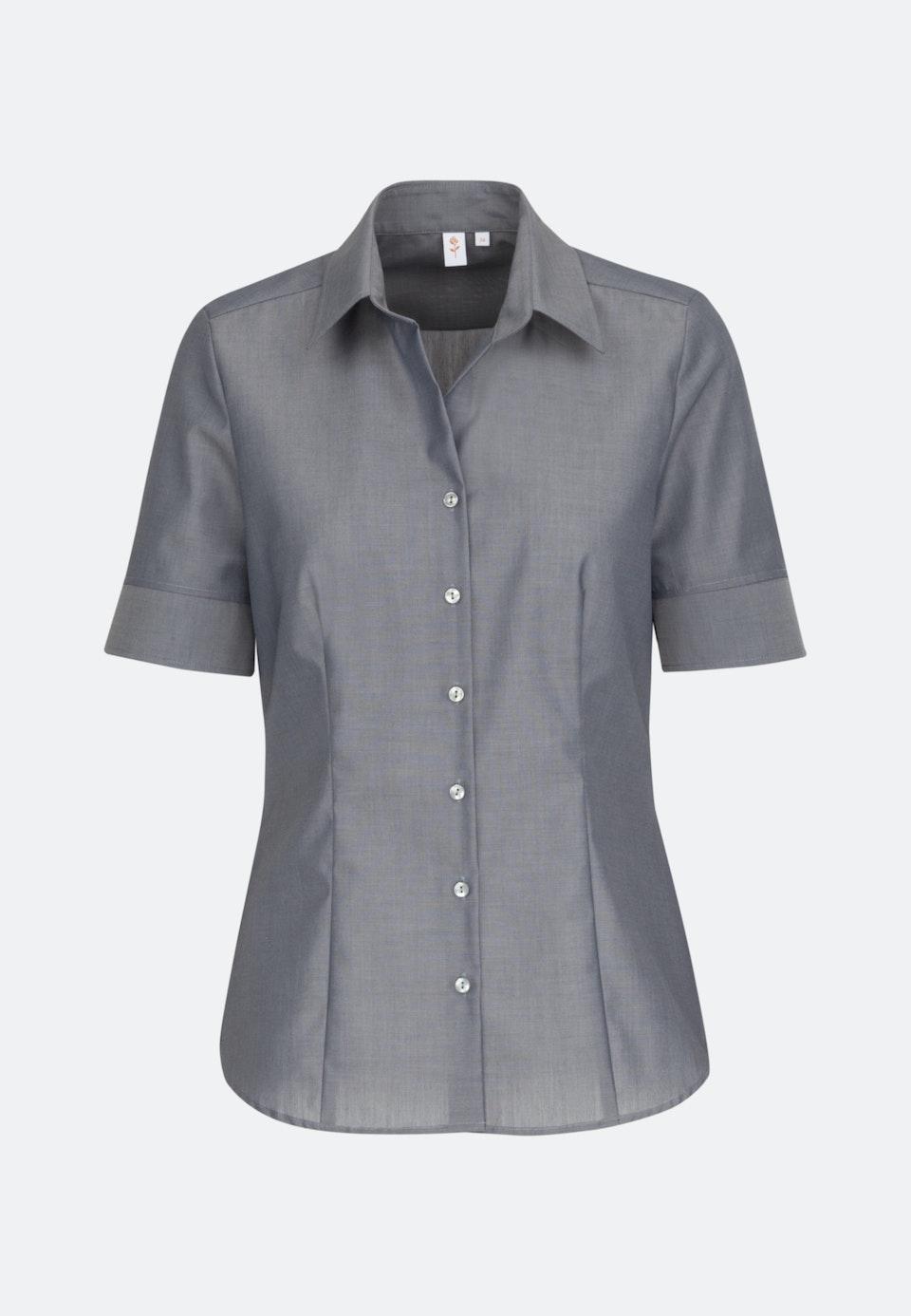 Non-iron Short sleeve Fil a fil Shirt Blouse made of 100% Cotton in Grey |  Seidensticker Onlineshop