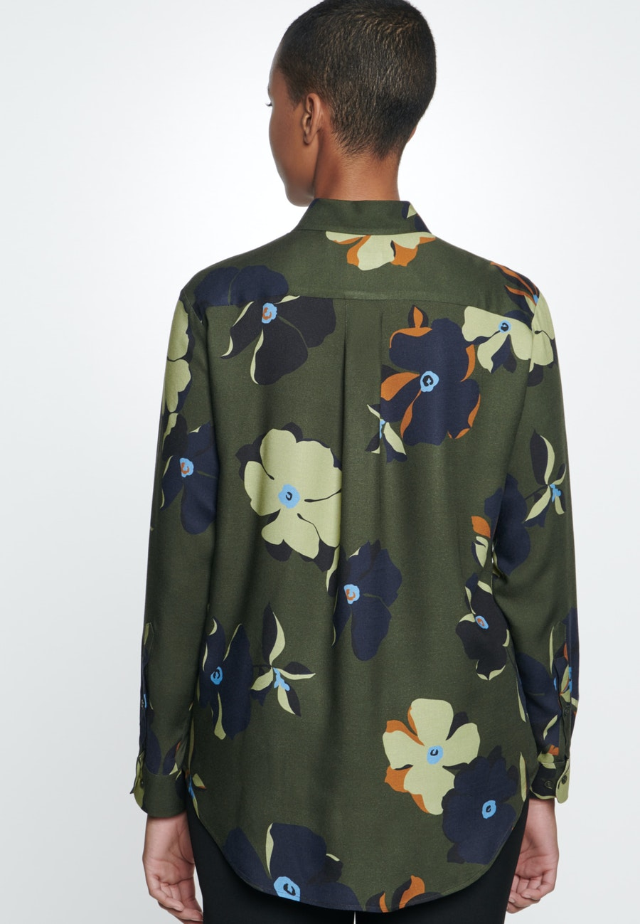 Twill Shirt Blouse made of 100% Viscose in Green |  Seidensticker Onlineshop