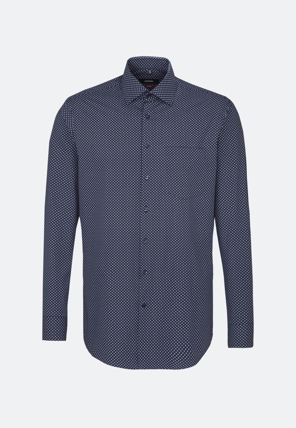 Bügelleichtes Popeline Business Hemd in Regular mit Kentkragen in Dunkelblau |  Seidensticker Onlineshop