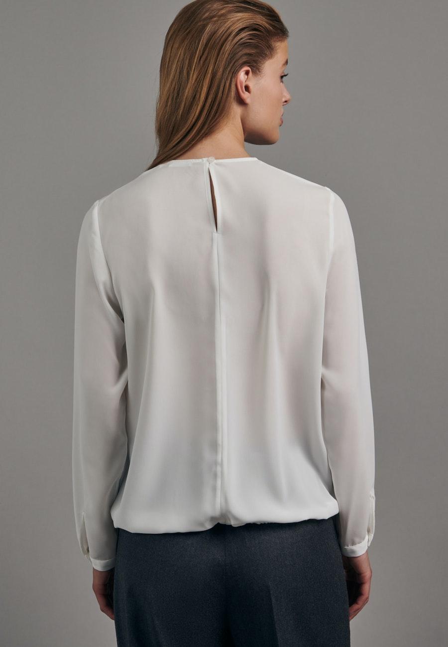 Krepp Shirt Blouse made of 100% Polyester in Ecru |  Seidensticker Onlineshop