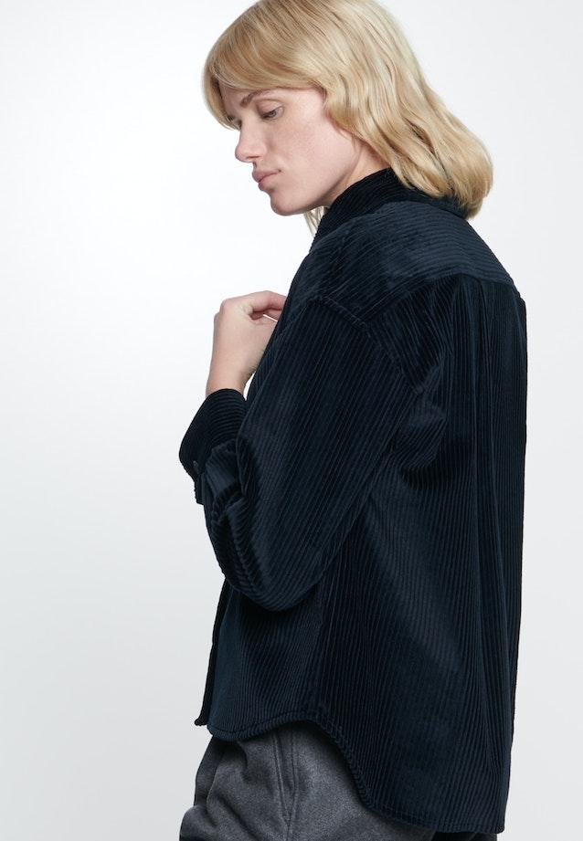Cord Hemdbluse aus 100% Baumwolle in Dunkelblau    Seidensticker Onlineshop