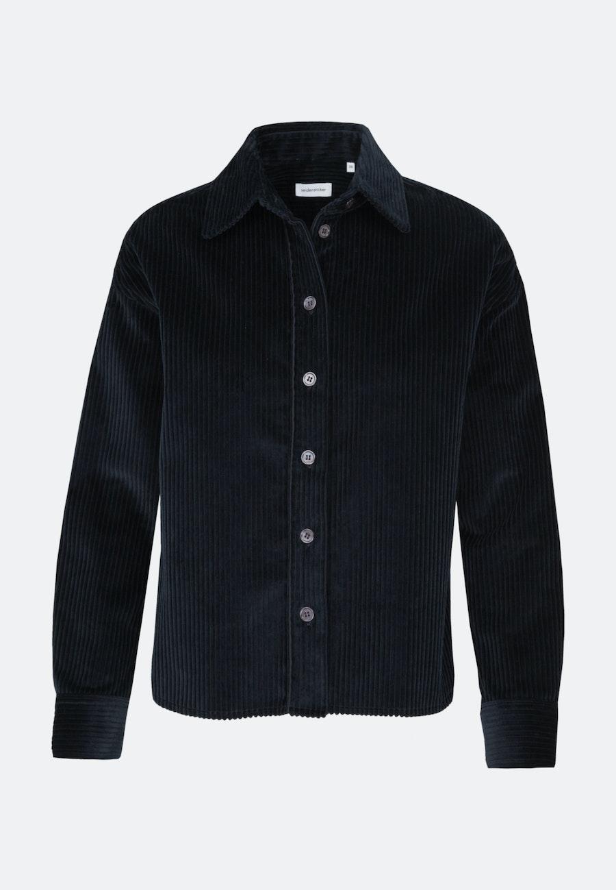 Cord Hemdbluse aus 100% Baumwolle in Dunkelblau |  Seidensticker Onlineshop