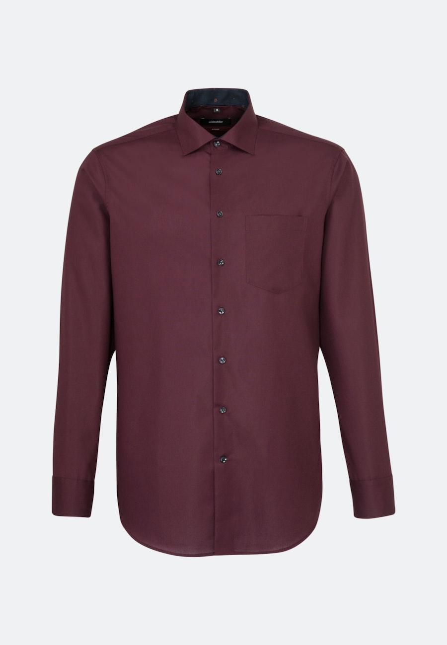 Non-iron Popeline Business Shirt in Regular with Kent-Collar in Red    Seidensticker Onlineshop