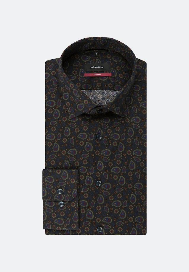 Easy-iron Twill Business Shirt in Regular with Kent-Collar in Grey |  Seidensticker Onlineshop